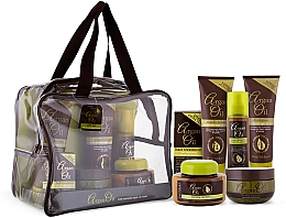 Парфюмерия и Козметика Комплект - Xpel Marketing Ltd Argan Oil (шампоан/250ml+балсам/250ml+масло/50ml+маска/220ml+спрей за коса/150ml+масло за тяло/250ml)