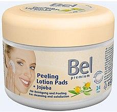 Парфюми, Парфюмерия, козметика Мокри козметични тампони със жожоба - Bel Premium Peeling Lotion Jojoba Pads