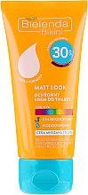 Парфюми, Парфюмерия, козметика Слънцезащитен крем за лице - Bіelenda Matt Look Cream SPF30