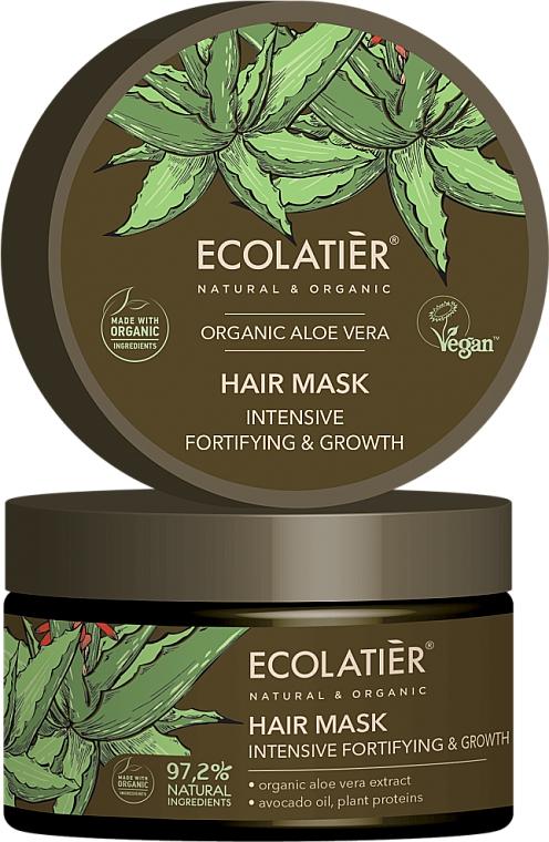 """Маска за коса """"Интензивно укрепване и растеж"""" - Ecolatier Organic Aloe Vera Hair Mask"""