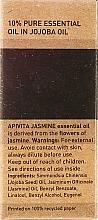 "Етерично масло ""Жасмин"" - Apivita Aromatherapy Organic Jasmine Oil — снимка N3"