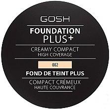 Парфюми, Парфюмерия, козметика Компактен фон дьо тен - Gosh Foundation Plus + Creamy Compact High Coverage