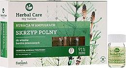 Парфюмерия и Козметика Подхранващи ампули против косопад за стимулиране растежа на косата - Farmona Herbal Care Horsetail Ampoule Treatment