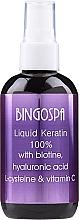 Парфюмерия и Козметика Течен кератин за коса - Bingospa Liquid 100% Keratin with Biotine