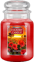 Парфюмерия и Козметика Ароматна свещ в бурканче - Country Candle Wild Poppies