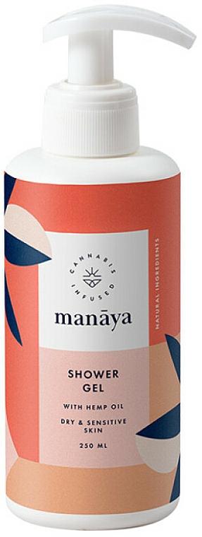 Душ гел с конопено масло - Manaya Shower Gel With Hemp Oil — снимка N1