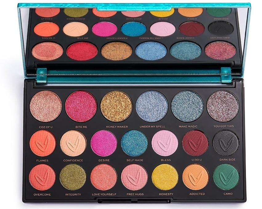 Палитра сенки за очи - Makeup Revolution X Carmi Make Magic Eyeshadow Palette — снимка N3