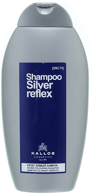 Тониращ шампоан за сребристо боядисване - Kallos Cosmetics Silver Reflex Shampoo