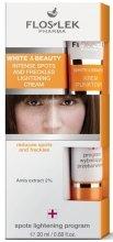 Парфюми, Парфюмерия, козметика Крем за интензивно изсветляване на пигментни петна и лунички - Floslek White & Beauty Intense Spots And Freckles Lightening Cream