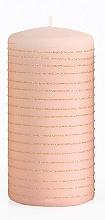 Парфюмерия и Козметика Декоративна свещ, розово-златна, 7x10 см - Artman Andalo