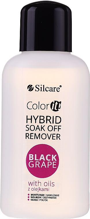 Течност за премахван на гел лак - Silcare Soak Off Remover Black Grape