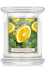 Парфюми, Парфюмерия, козметика Ароматна свещ в бурканче - Kringle Candle Citrus And Sage