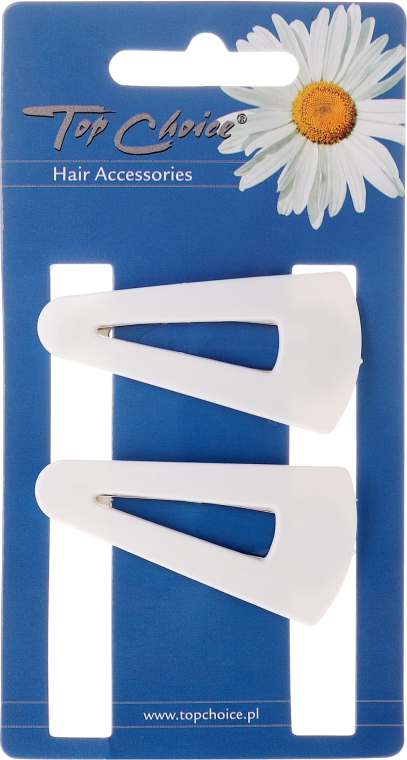 "Фиби за коса ""White Collection"" 23583, 2 бр. в бяло - Top Choice"