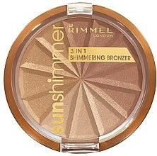 Парфюми, Парфюмерия, козметика Пудра за лице - Rimmel Sunshimmer 3in1 Shimmering Bronzing Powder
