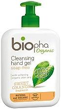 Парфюми, Парфюмерия, козметика Изиващ гел за ръце - Biopha Organic Cleansing Hand Gel Sweet Orange