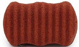 Парфюмерия и Козметика Гъба за лице и тяло с червена глина - Bebevisa Konjac Sponge