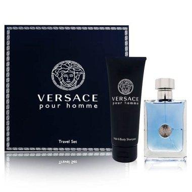 Versace Versace Pour Homme - Комплект (тоал.вода/100ml + шампоан за коса и тяло/150ml) — снимка N1