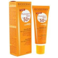 Парфюми, Парфюмерия, козметика Слънцезащитен флуид за чувствителна кожа - Bioderma Photoderm Max SPF50+ Aquafluid