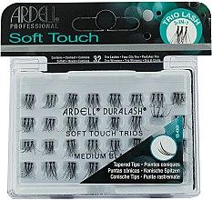 Парфюмерия и Козметика Мигли на снопчета - Ardell Soft Touch Trio Individuals Medium Black