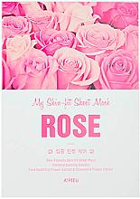 Парфюмерия и Козметика Интензивно успокояваща памучна маска за лице с екстракт от роза - A'Pieu My Skin-Fit Sheet Mask Rose