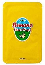 Парфюмерия и Козметика Подхранваща маска за лице с екстракт от банан и мед - A'Pieu Sweet Banana Sheet Mask