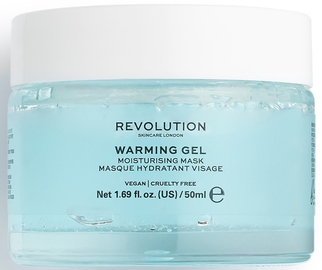 Хидратираща маска за лице - Makeup Revolution Skincare Warming Gel Moisturising Face Mask — снимка N1