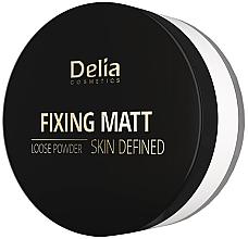 Парфюмерия и Козметика Матираща пудра на прах - Delia Fixing Matt Skin Defined Loose Powder