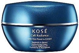 Парфюмерия и Козметика Възстановяващ хидратиращ крем за лице - Kose Cell Radiance Cream Rice Power Extract