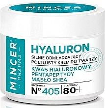 Парфюми, Парфюмерия, козметика Подмладяващ крем за лице с масло от Шеа - Mincer Pharma Hialuron Cream