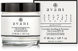 Парфюмерия и Козметика Успокояващ дневен крем със серамиди - Avant Skincare Ceramides SPF20 Soothing and Protective Day Cream
