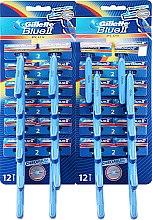 Парфюми, Парфюмерия, козметика Комплект самобръсначки за еднократна употреба, 48бр - Gillette Blue II Plus