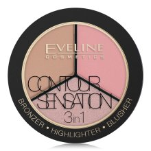 Парфюмерия и Козметика Контурираща палитра за лице - Eveline Cosmetics Contour Sensation