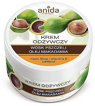 Подхранващ крем с пчелен восък и масло от макадамия - Anida Pharmacy Nourishing Cream — снимка N1