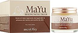 Парфюмерия и Козметика Възстановяващ крем за лице с конско масло - Secret Key MAYU Healing Facial Cream