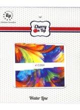Парфюми, Парфюмерия, козметика Водни стикери за нокти, C204 - Euro Fashion Cherry On Top Water Line