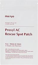 Парфюмерия и Козметика Пачове против акне - Manyo Factory Proxyl AC Rescue Spot Patch