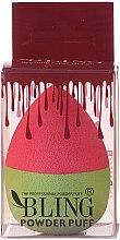 Парфюмерия и Козметика Гъба за грим, розово-зелена - Bling Powder Puff