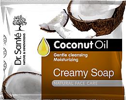 Парфюмерия и Козметика Крем-сапун за лице с кокосово масло - Dr.Sante Cream Soap