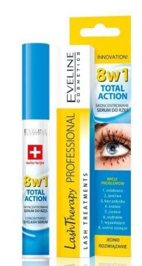 Серум за мигли - Eveline Cosmetics Multi-Purpose Eyelash Serum Total Action 8in1