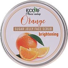 Парфюмерия и Козметика Изсветляващ захарен скраб за лице с портокал - Eco U Orange Brightening Sugar Jelly Face Scrub