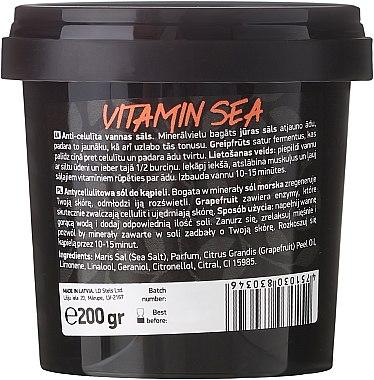 """Антицелулитни соли за вана с морска сол с масло от грейпфрут """"Vitamin Sea"""" - Beauty Jar Anticellulite Bath Salt — снимка N3"""