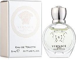 Парфюмерия и Козметика Versace Eros Pour Femme - Тоалетна вода (мини)