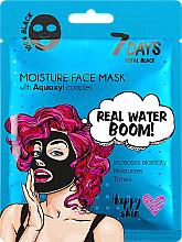 Парфюмерия и Козметика Маска за лице - 7 Days Total Black Moisture Real Water Boom