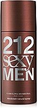 Парфюмерия и Козметика Carolina Herrera 212 Sexy Men - Дезодорант за мъже