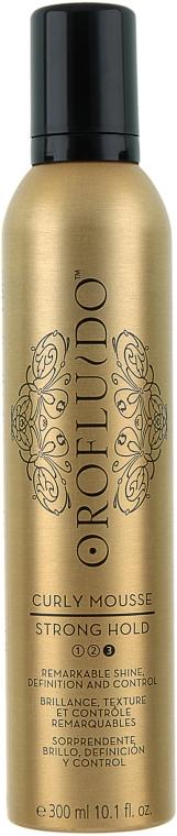 Мус за оформяне на къдрици, силна фиксация - Orofluido Curly Mousse Strong Hold