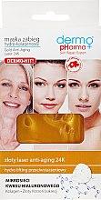 Парфюмерия и Козметика Маска за лице хидро-колагенова - Dermo Pharma Gold Anti-Aging Laser 24K