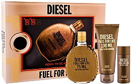 Парфюмерия и Козметика Diesel Fuel for Life Homme - Комплект (тоал. вода/75ml + душ гел/100ml + душ гел/50ml)