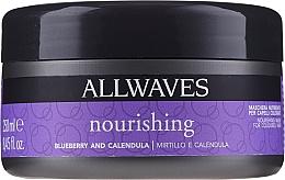 Парфюмерия и Козметика Подхранваща маска за след боядисване с екстракт от невен и боровинки - Allwaves Blueberry And Calendula Nourishing Mask