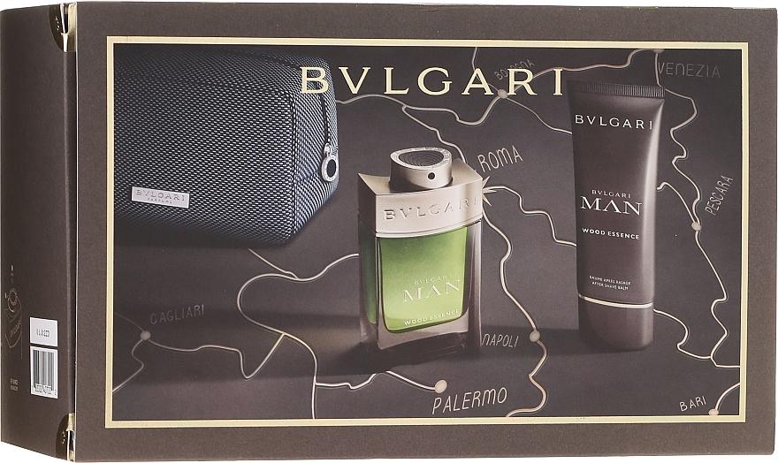 Bvlgari Man Wood Essence - Комплект (парф. вода/100ml + афтър. балсам/100ml + козм. чанта) — снимка N1