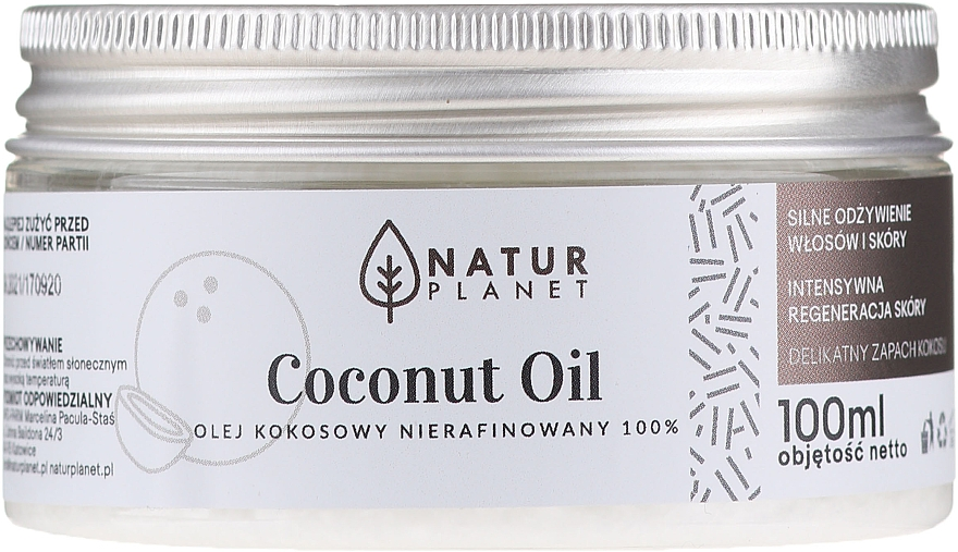 Нерафинирано кокосово масло - Natur Planet Coconut Oil